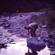Toilette dans la rivière Bas Coulna
