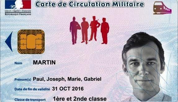 Carte circulation militaire