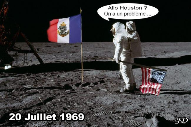 Premier pas sur la lune